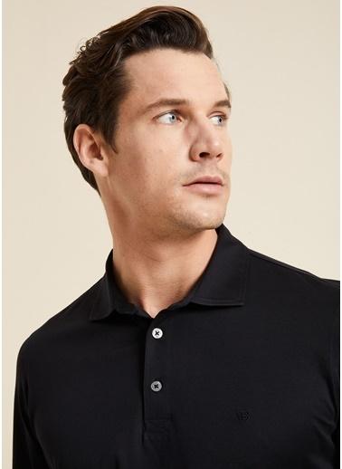 Bisse SW18K18201 Regular Fit Manşetli Polo Yaka Sweatshirt Siyah